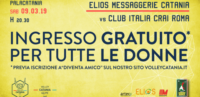 Elios Messaggerie Catania festeggia le donne, sabato ingresso gratuito